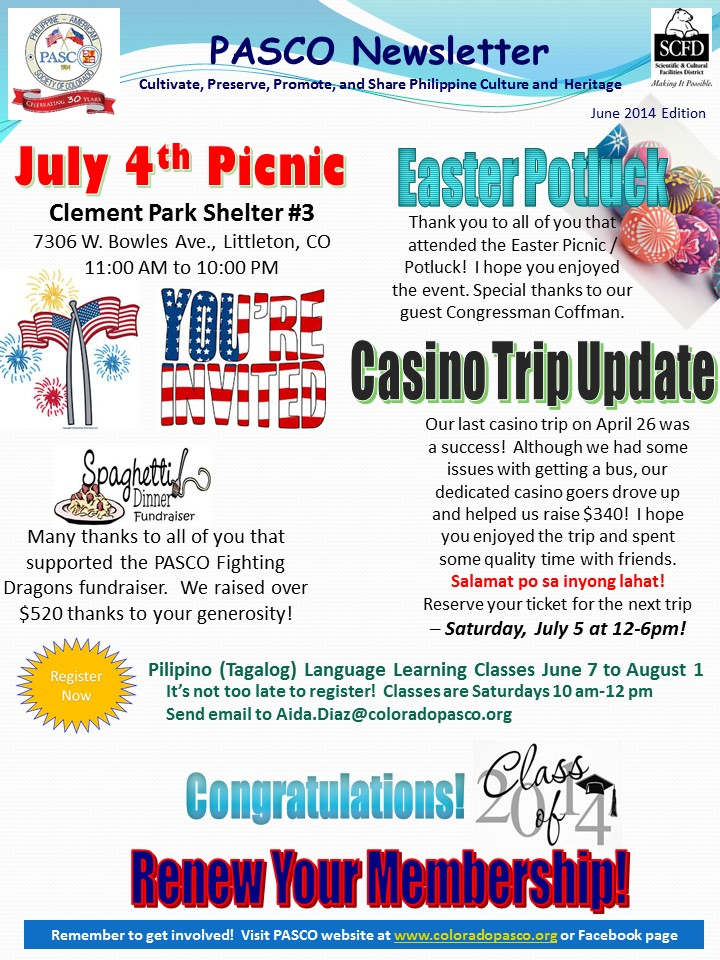 2014-06-01 PASCO Newsletter