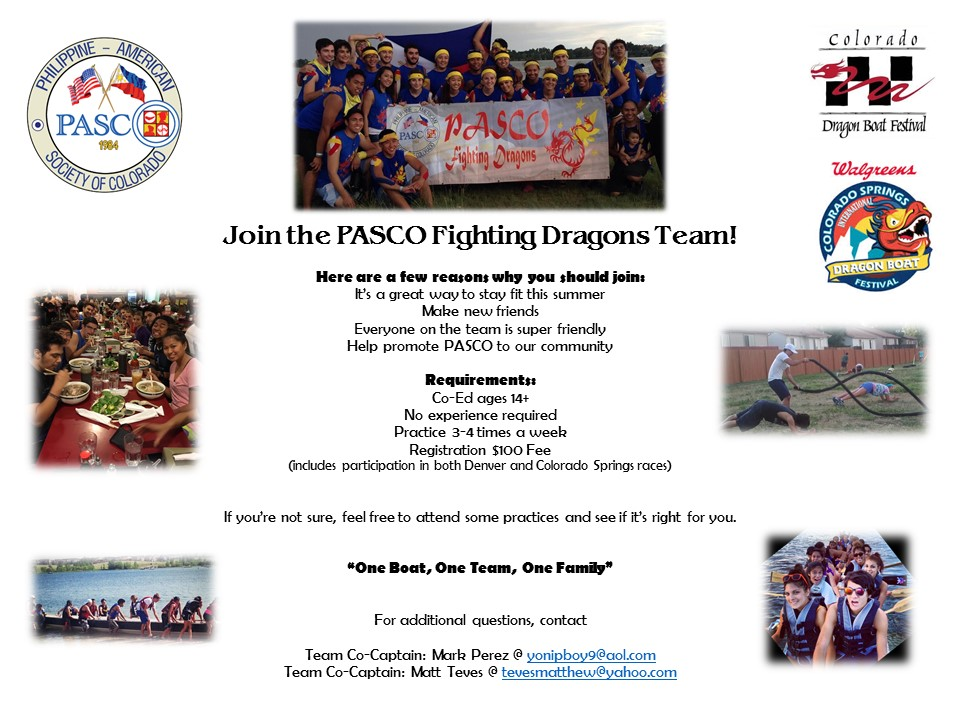 PASCO Fighting Dragons - Join the Team